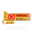 "Premium 20 ga Ammo For Sale - 2-3/4"" 250 gr Sabot Slug Ammunition by Hornady - 5 Rounds"