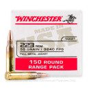Cheap 223 Rem Ammo For Sale - 55 Grain FMJ Ammunition in Stock by Winchester USA - 150 Rounds