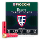 "Cheap 28 Gauge Ammo For Sale - 2-3/4"" 3/4oz. #7.5 Shot Ammunition in Stock by Fiocchi - 25 Rounds"