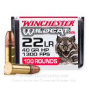 Cheap 22 LR Ammo For Sale - 40 Grain CPHP Ammunition in Stock by Winchester Wildcat - 100 Rounds