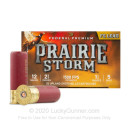 "Premium 12 Gauge Ammo For Sale - 2-3/4"" 1-1/4 oz. #5 Ammunition in Stock by Federal Premium PRAIRE STORM - 25 Rounds"