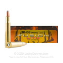 Premium 30-06 Ammo For Sale - 170 Grain SP Ammunition in Stock by Federal Fusion Lite - 20 Rounds