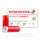 """Cheap 12 Gauge Ammo For Sale - 2 3/4"""" 1 oz. #7 1/2 Shot Ammunition in Stock by Winchester Super Target - 25 Rounds"""
