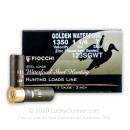 "Premium 12 Gauge Ammo For Sale - 3"" 1-1/4oz. T Steel Shot Ammunition in Stock by Fiocchi Golden Waterfowl - 25 Rounds"