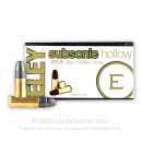 Premium 22 LR Subsonic Ammo For Sale - 38 gr Hollow Point Ammunition by Eley - 500 Rounds