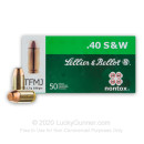 Cheap Sellier & Bellot 40 S&W Ammo In Stock - 180 gr TMJ Ammunition For Sale - 50 Rounds