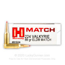 Bulk 224 Valkyrie Ammo For Sale - 140 Grain ELD Ammunition in Stock by Hornady - 200 Rounds
