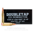 Premium 223 Rem Ammo For Sale - 62 Grain TSX Ammunition in Stock by Doubletap - 20 Rounds
