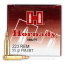 a223 Rem Ammo In Stock - 55 gr FMJBT Hornady mmunition For Sale  - 50 Rounds