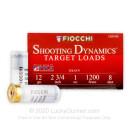 "Bulk 12 ga Target Shells For Sale - 2-3/4"" 1 oz #8 Target Shell Ammunition by Fiocchi - 250 Rounds"