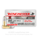 Match 22 LR Ammo For Sale - 40 gr Lead Round Nose Ammunition - Winchester Super-X T22 Ammo - 50 Rounds