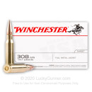 308 Win Ammo In Stock  - 147 gr FMJ - Winchester Ammunition For Sale Online