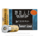 "20 Gauge Ammo - 2-3/4"" Steel Shot Target shells - 7/8 oz - #7 - Federal Top Gun - 25 Rounds"