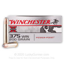 375 Winchester Ammo - Winchester 200 grain Super-X Power Point - 20 Rounds