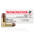 Premium 9mm Ammo For Sale - 90 Grain Lead-Free Frangible Ammunition in Stock by Winchester - 50 Rounds