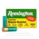 """Premium 12 Gauge Ammo For Sale - 3-1/2"""" 18 Pellet 00 Buck Magnum Ammunition in Stock by Remington Express - 150 Rounds"""