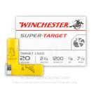 "20 Gauge Ammo - 2-3/4"" Lead Shot Target shells - 7/8 oz - #7-1/2 - Winchester Super Target - 250 Rounds"