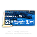 Premium 223 Rem Ammo For Sale - 40 Grain V-MAX Ammunition in Stock by Federal Varmint & Predator - 20 Rounds