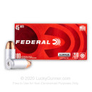 Cheap 45 ACP Ammo For Sale - 230 Grain FMJ Ammunition in Stock by Federal Champion (Aluminum) - 100 Rounds