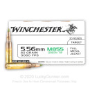 Bulk 5.56x45 Ammo For Sale - 62 Grain FMJ M855 Ammunition in Stock by Winchester - 1000 Rounds