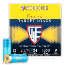 """Cheap 12 Gauge Ammo For Sale - 2-3/4"""" 7/8oz. #9 Shot Ammunition in Stock by Fiocchi - 25 Rounds"""