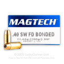 Personal Defense 40 S&W Ammo - 180 gr JHP - Magtech Bonded 40 S&W Ammunition - 50 Rounds