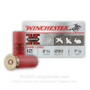 "Cheap 12 Gauge Ammo For Sale - 2-3/4"" 1oz. #7.5 Shot Ammunition in Stock by Winchester Super-X - 250 Rounds"