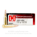 308 Win Ammo In Stock  - 150 gr Hornady SST Polymer Tip Ammunition For Sale Online - 20 Rounds