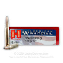 Premium 30-06 Ammo For Sale - 180 Grain InterLock Ammunition in Stock by Hornady American Whitetail - 20 Rounds