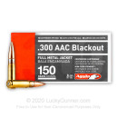 Cheap 300 AAC Blackout Ammo For Sale - 150 Grain FMJ Ammunition in Stock by Aguila - 50 Rounds