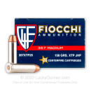 Cheap Defense 357 Mag Ammo For Sale - 158 gr JHP XTP Fiocchi Ammunition - 25 Rounds