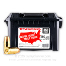 Bulk 380 Auto Ammo For Sale - 95 Grain FMJ Ammunition in Stock by Winchester - 350 Rounds in Field Box