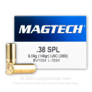 Cheap 38 Special Ammo For Sale - 148 gr LWC Magtech Ammunition In Stock - 50 Rounds
