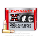 Cheap 22 LR Ammo For Sale - 40 gr Copper Plated Round Nose Ammunition - Winchester Super-X - 100 Rounds