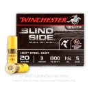 """Premium20 Gauge Ammo For Sale - 3"""" 1-1/16 oz. #5 Steel Shot Ammunition in Stock by Winchester Blind Side - 25 Rounds"""