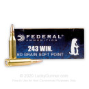 243 Ammo For Sale - 80 gr SP - Federal Power-Shok Ammo Online