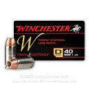 Cheap 40 S&W Ammo For Sale - 180 gr JHP - Winchester Train & Defend Ammunition - 20 Rounds