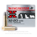 Cheap 32-20 Winchester Ammo For Sale - 100 Grain RNFP Ammunition in Stock by Winchester Super-X - 50 Rounds