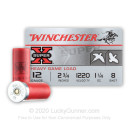 "12 Gauge Ammo - Winchester Super-X Field & Game 2-3/4"" #8 Shot - 25 Rounds"