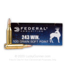 243 Ammo For Sale - 100 gr SP - Federal Power-Shok Ammo Online