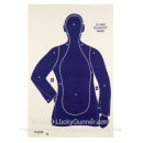 Cheap Targets - Champion - Blue B21-E LE Paper Silhouette In Stock - 100 Targets