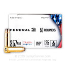 Premium 357 Magnum Ammo For Sale - 125 Grain JHP Ammunition in Stock by Federal Train + Protect - 50 Rounds