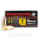 9mm Ammo For Sale - 147 gr FMJ - Winchester Train & Defend Ammunition In Stock 500 Rounds