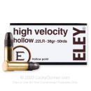 Premium 22 LR Ammo For Sale - 38 Grain HP Ammunition in Stock by Eley High Velocity - 50 Rounds