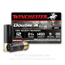 """Premium 12 Gauge Ammo For Sale - 2-3/4"""" 00 Buck Ammunition in Stock by Winchester Double-X - 5 Rounds"""