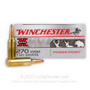 Cheap 270 Win Short Magnum Ammo For Sale - 150 gr Power Point - Winchester Super-X Ammo Online - 20 Rounds