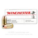 40 SW Ammo - 180 gr JHP - Winchester USA Ammunition - 50 Rounds