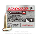 Premium 22 Hornet Ammo For Sale - 35 Grain Polymer Tip Ammunition in Stock by Winchester Varmint-X - 20 Rounds
