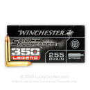 Premium 350 Legend Ammo For Sale - 255 Grain Open Tip Subsonic Ammunition in Stock by Winchester Super Suppressed - 20 Rounds