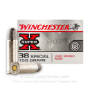 38 Special Ammo Available For Sale - 158 gr LRN - Winchester Super-X Ammunition - 50 Rounds